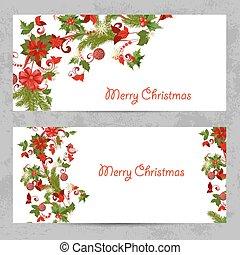invitación, tarjetas, con, un, navidad, patrón, para, su, diseño