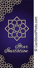 invitación, violeta, iftar