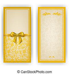 invitation, élégant, vecteur, carte, gabarit