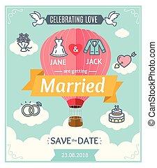 invitation., ベクトル, 結婚式