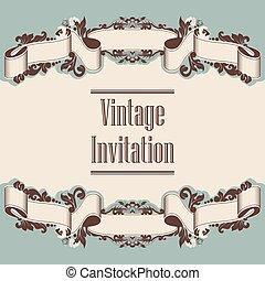 invitation and ribbon