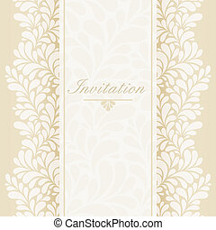 Invitation, anniversary card - with label for your text