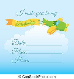 Birthday Invitation Background Vector Illustration Of Eps - Birthday invitation background vector