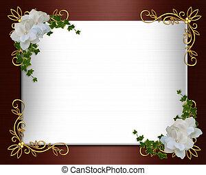 Invitation border elegant Burgundy Satin - Image and...