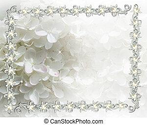 invitation bryllup, jeweled