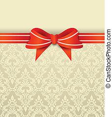 invitation, card, bøje sig
