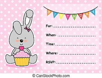 Invitation Card Birthday girl