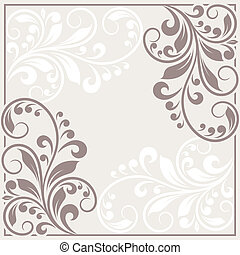 Invitation card. Vintage background with floral pattern.
