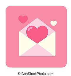 Invitation Card Flat Icon