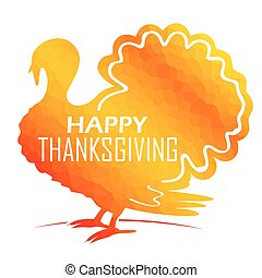 Invitation card for Happy Thanksgiving with turkey