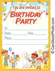 Invitation card for the birthday party