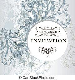 Invitation card in vintage elegant