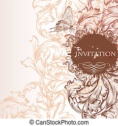 Invitation card in vintage style