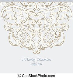 Invitation card ornamental lace