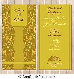 invitation, card., tansy, printable, illustration, mariage, vecteur, automne