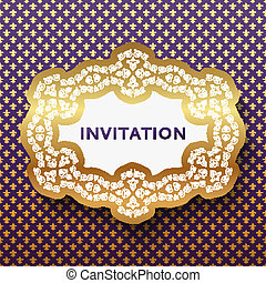 Invitation card. Vintage background with place for text.