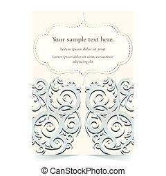 Invitation card, wedding card with ornamental background