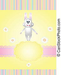 invitation card with a rabbit