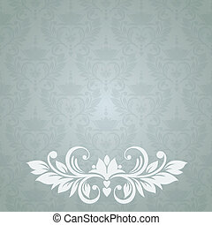 Invitation card with abstract floral background.