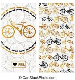 Invitation card with bike