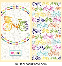 Invitation card with bike in the ch
