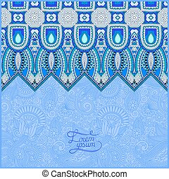 invitation card with ethnic background, royal ornamental design