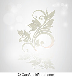 Invitation card with floral background.