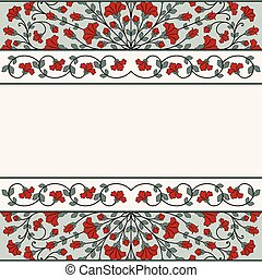 Invitation card with floral ornamen