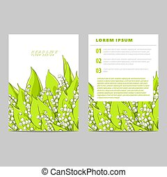 Invitation card with lilies of the valley