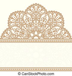 Invitation card with mandala.