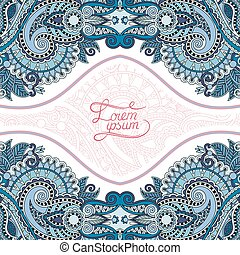 invitation card with neat ethnic background, royal...