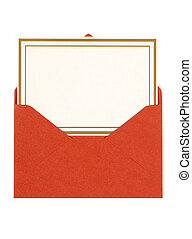 Invitation card with red envelope