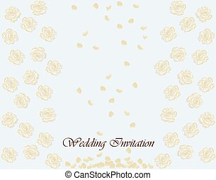 Invitation card with roses