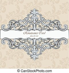 Invitation card with royal ornaments