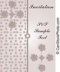 Invitation card with vintage floral ornaments