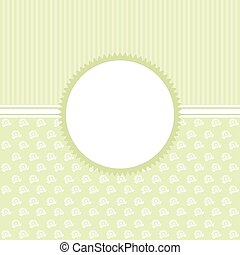 Invitation cards in an vintage-style green