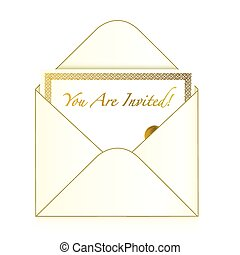 Invitation cart inside an envelope