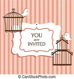 invitation, carte