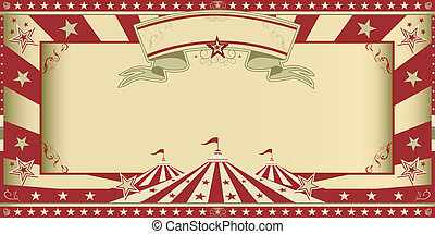 invitation circus show - Circus invitation with sunbeams and...