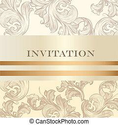 invitation, conception, mariage, carte