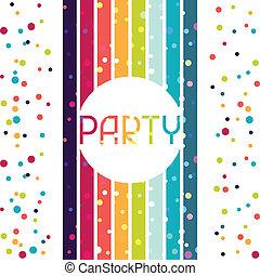 invitation., design, bakgrund, parti, helgdag, firande