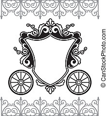 fairytale carriage - invitation design with fairytale...