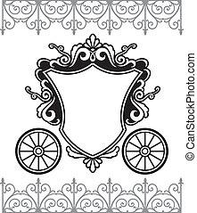 fairytale carriage - invitation design with fairytale...