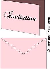 Invitation Envelope - Vector Illustration of a Wedding ...