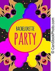 invitation, fête, rigolote, bachelorette