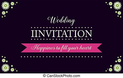 Invitation for wedding style collection