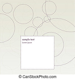 invitation greeting card with dashed circles