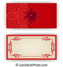 invitation, herskabelig, vektor, luksus, skabelon, card