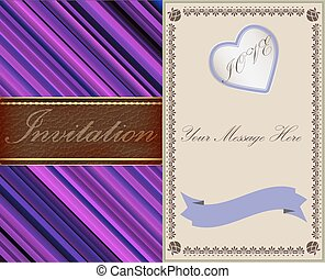 invitation, leather., or, old-style, cartes