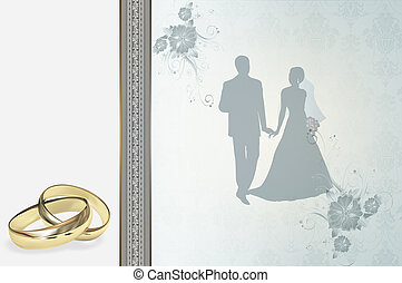 invitation mariage, design.